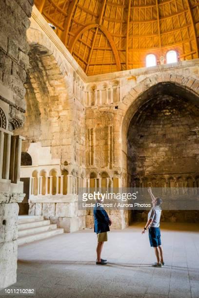 two men in umayyad palace, amman, jordan - pureza imagens e fotografias de stock