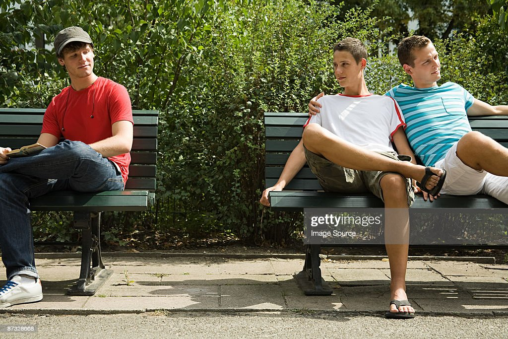 Two men looking at each other : Stock Photo