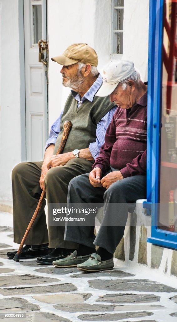Zwei Männer von Mykonos : Stock-Foto