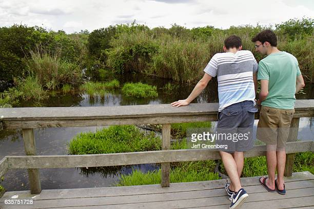 Two men on the Anhinga Trail.