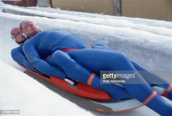 two man luge at the sarajevo olympics pictures getty images. Black Bedroom Furniture Sets. Home Design Ideas