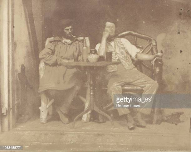 Two Men Seated at a Table 1850s Artist Unknown