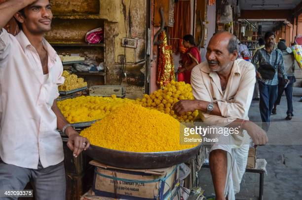 CONTENT] Two men selling their spices at the central market in Jaipur Rajasthan March 2012