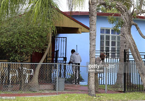 Two men spend time in the front yard of the New Greenview II assisted living facility in Miami on Friday March 13 2015 The ALF concerns neighbors who...