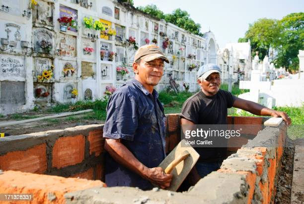 Grave diggers in Mompox, Colombia