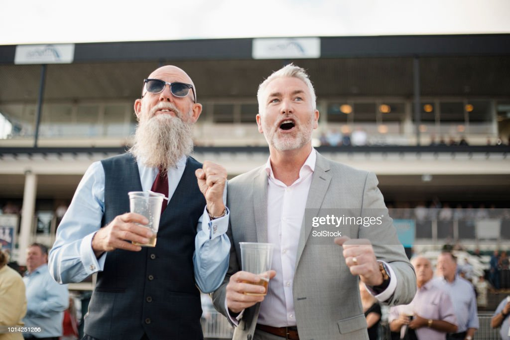 Two Men Waiting In Anticipation : Stock Photo