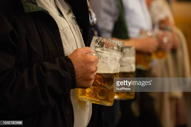 Two men with beer glasses on Day 4 of the Oktoberfest The Oktoberfest or Wiesn in Bavarian is the world's largest Volksfest It will take place from...