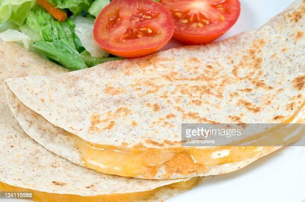 Two mexican quesadillas