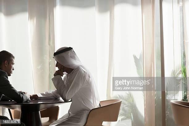 Two Middle Eastern Businessmen having meeting