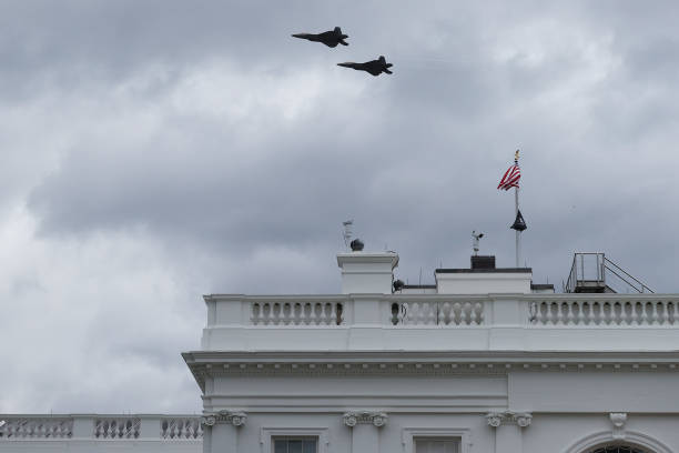 DC: Fighter Jets Flyover Washington, DC To Dedicate New WWI Memorial