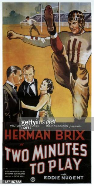 Two Minutes To Play poster left center and right Herman Brix 1936