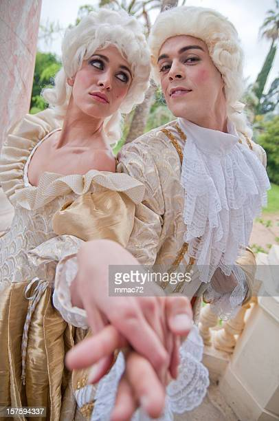 Two models in French Ancient Costumes