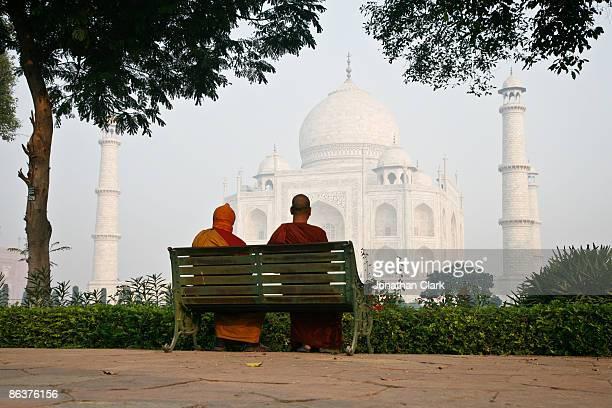 Two Monks at the Taj Mahal