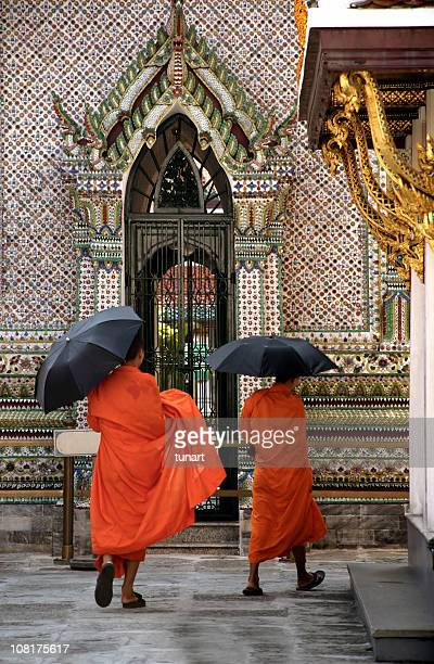 Two monks in Grand Palace, Bangkok, Thailand