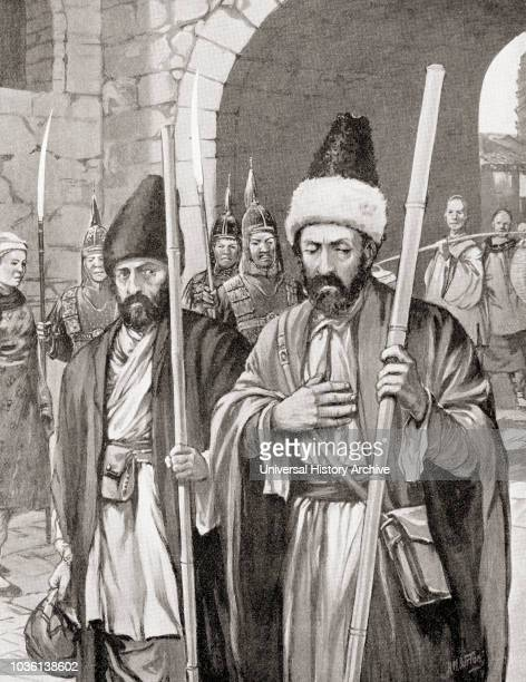 Two monks, with the support of the Byzantine emperor Justinian I, successfully smuggle silkworms into Constantinople by hiding them in bamboo staves,...