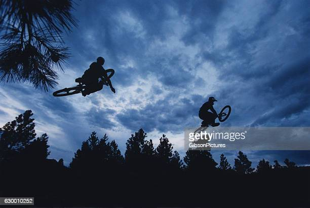 Two Mountain Bike Dirt Jumpers