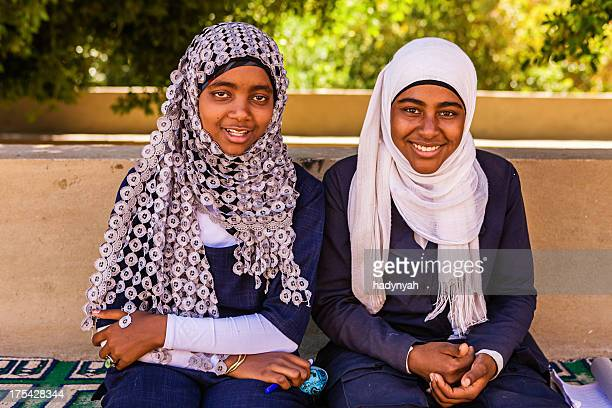 Two Muslim female students in Southern Egypt