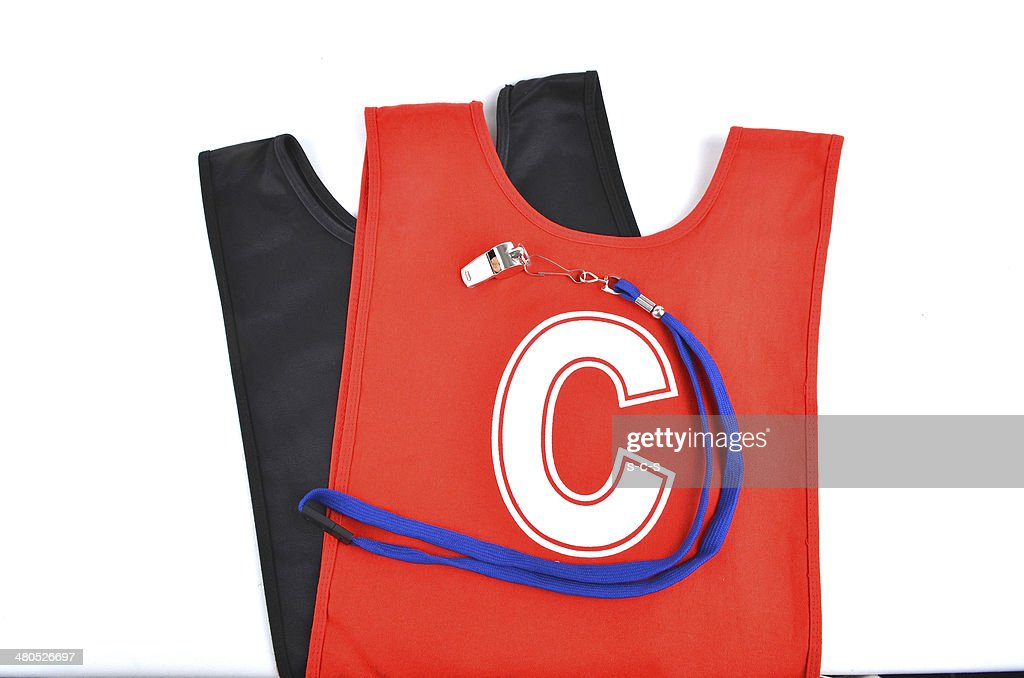 Two Netball Bibs : Stock Photo
