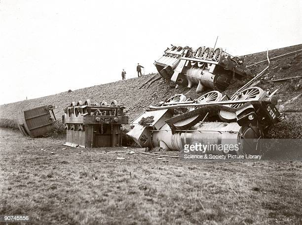 Two North Eastern Railway 060 locomotives derailed in an accident on an embankment between Winston and Gainford in County Durham The accident was...