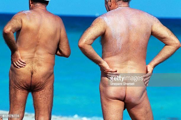 Two Nude Beachgoers at Haulover Beach