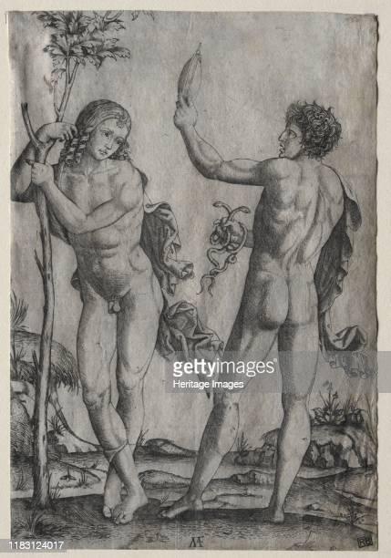 Two Nude Men Beside a Tree Creator Unknown