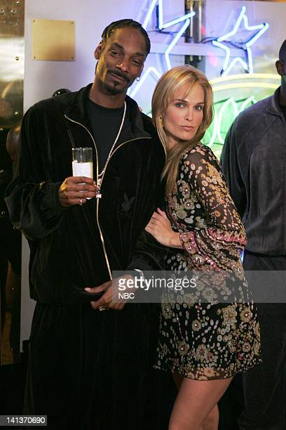 LAS VEGAS Two of a Kind Episode 8 Pictured Snoop Dogg as himself Molly Sims as Delinda Deline Photo By Chris Haston/NBC/NBCU Photo Bank