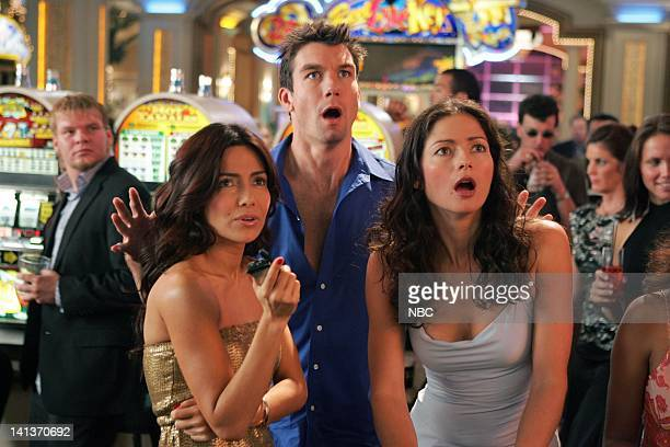 LAS VEGAS Two of a Kind Episode 8 Pictured Vanessa Marcil as Samantha Sam Jane Jerry O'Connell as Detective Woody Hoyt Jill Hennessy as Dr Jordan...