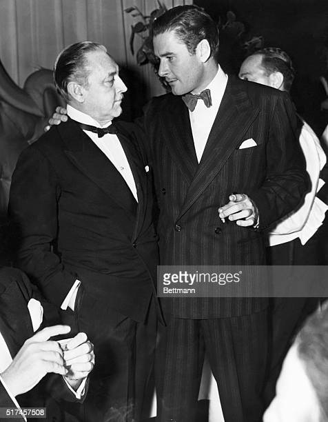 Two of Hollywood's most famous leading men John Barrymore and Errol Flynn