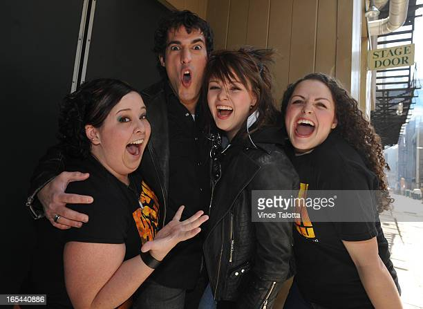 Two of the biggest fans Kelly Brazeau19 and Monica Szustakowski of the musical We Will Rock You get to meet the two lead stars Yvon Pedneault and...