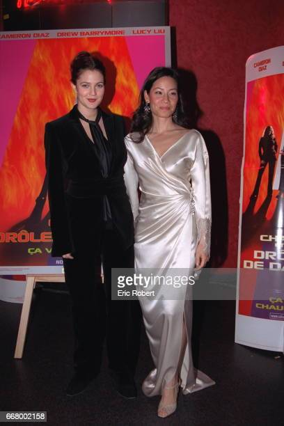 Two of the film's stars: Drew Barrymore and Lucy Liu.