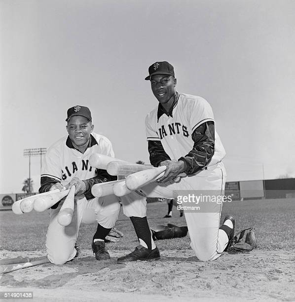 """Two of the Giants """"Big Guns"""" are shown here in the person of Willie Mays, and Willie McCovey."""