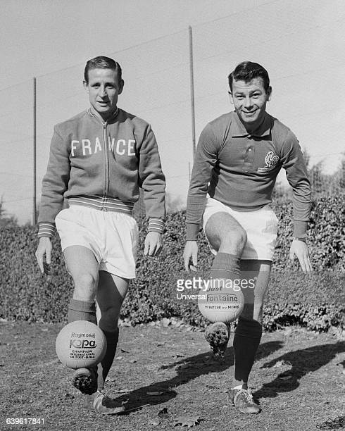 Two of the most famous French soccer players Raymond Kopa and Just Fontaine.