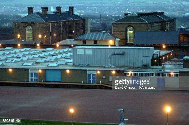 Two of the prison blocks at Barlinnie prison in Glasgow which is ready to take charge of Adbel Baset Ali Mohamed Al Megrahi the terrorist who blew...
