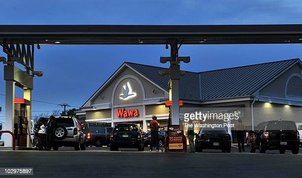 Two of the regions' most popular convenience stores are quite different, culturally. Pictured, exterior view of the Wawa in Prince William county.