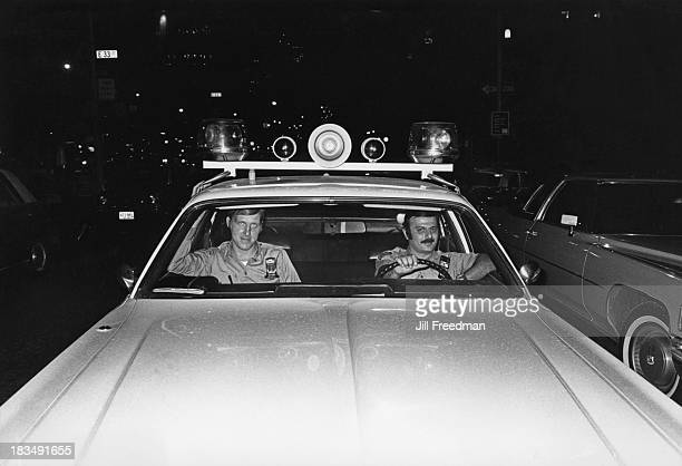 Two officers from the NYPD on patrol in Midtown Manhattan New York City 1976