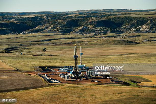 Two oil rigs sits just east of Theodore Roosevelt National Park near Watford City ND Sept 24 2013 In 2008 the North Dakota oil boom started its...