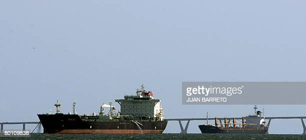 Two oil tankers remain out in the sea near Maracaibo some 650 km west of Caracas on March 4 before heading to the stateowned oil company PDVSA pier...