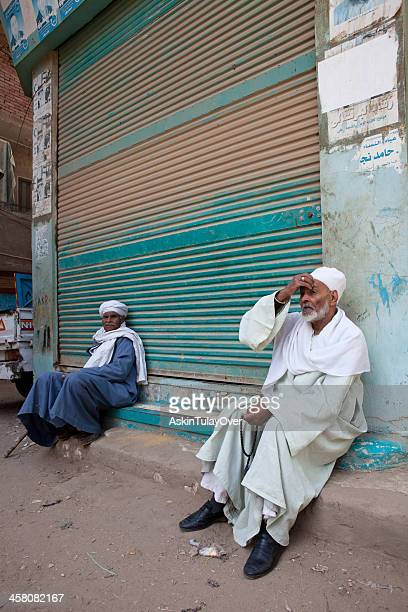 Two old men in the street