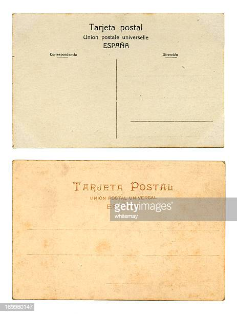 two old spanish postcards - spanish culture stock pictures, royalty-free photos & images