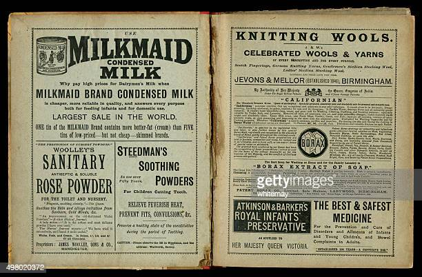 Two pages of 1890s Victorian advertisements