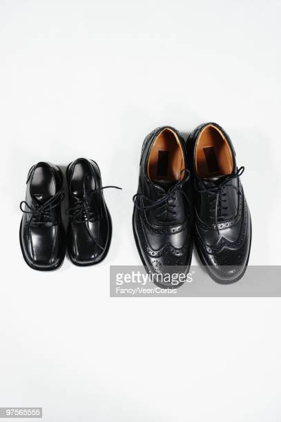 Two pairs of black dress shoes
