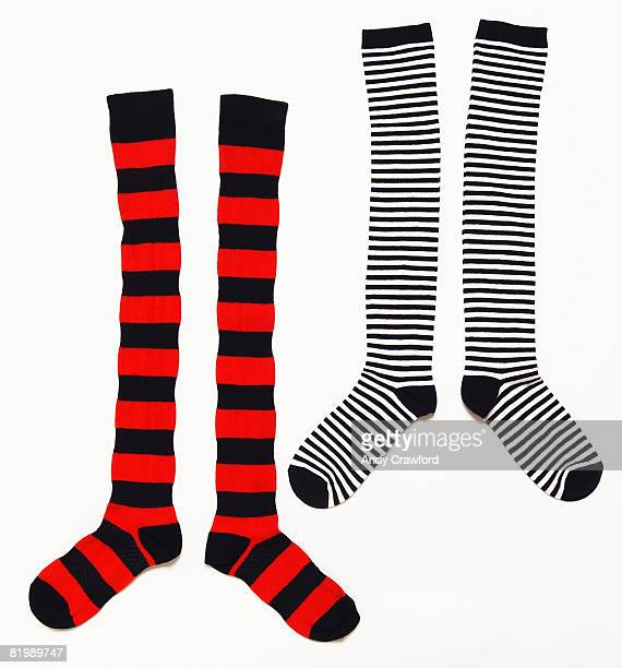 Two pairs of stripy socks
