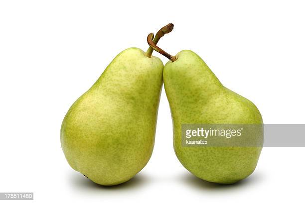 two pears - pear stock pictures, royalty-free photos & images