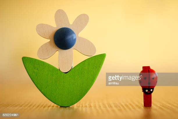 two pegs - annfrau stock photos and pictures