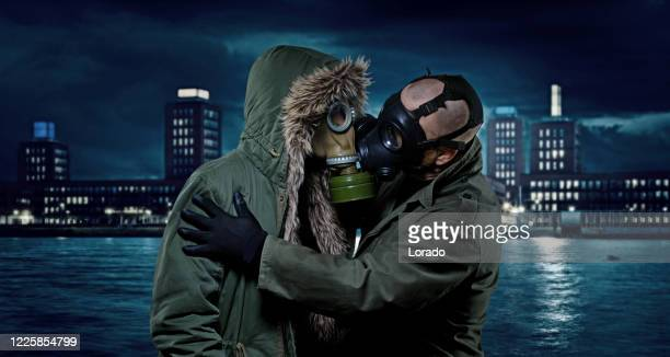 two people dating in the new normal after the virus outbreak - new normal stock pictures, royalty-free photos & images