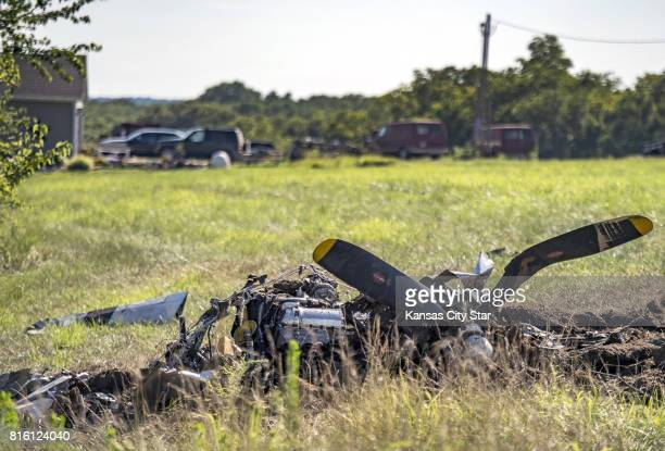 Two people died when a World War II P51 Mustang crashed in Atchison County Sunday July 16 2017 one day after the Amelia Earhart Festival ended...