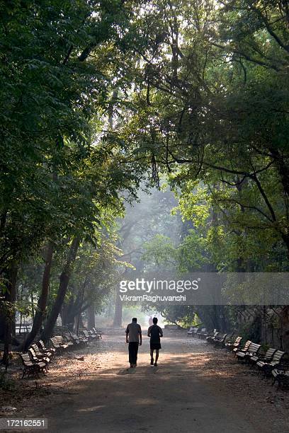 Two People going for the Morning Walk in Indian Park