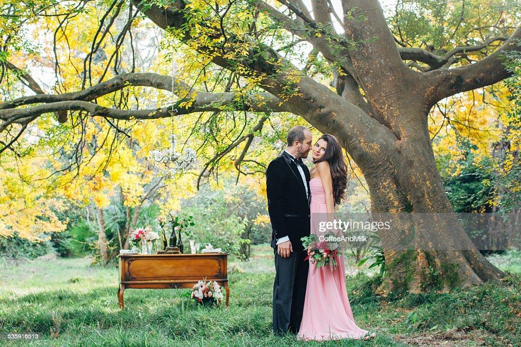 Dos personas en amor : Foto de stock