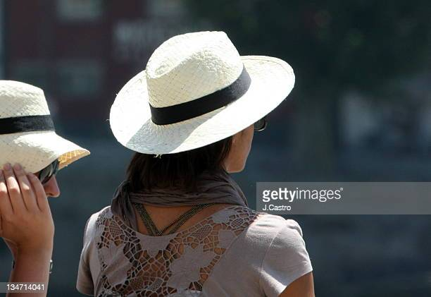 Two people in panama hat