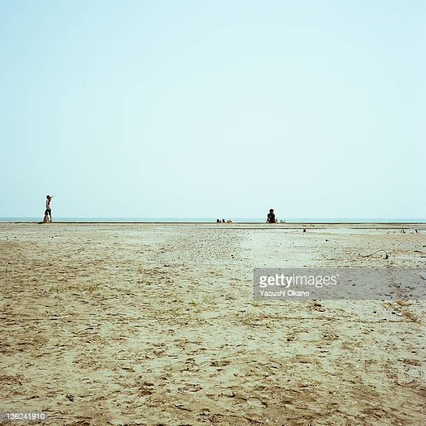 Two people on beach
